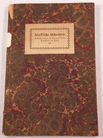 Klassische Fraktur- & Antiquaschriften Des Sechzehntn Bis Achtzehnten Jahrhunderts, D. Stempel AG - Type Specimen Book