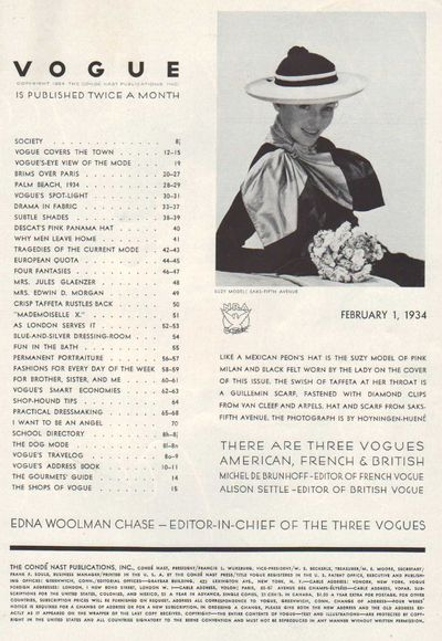 Image for Vogue Magazine February 1, 1934