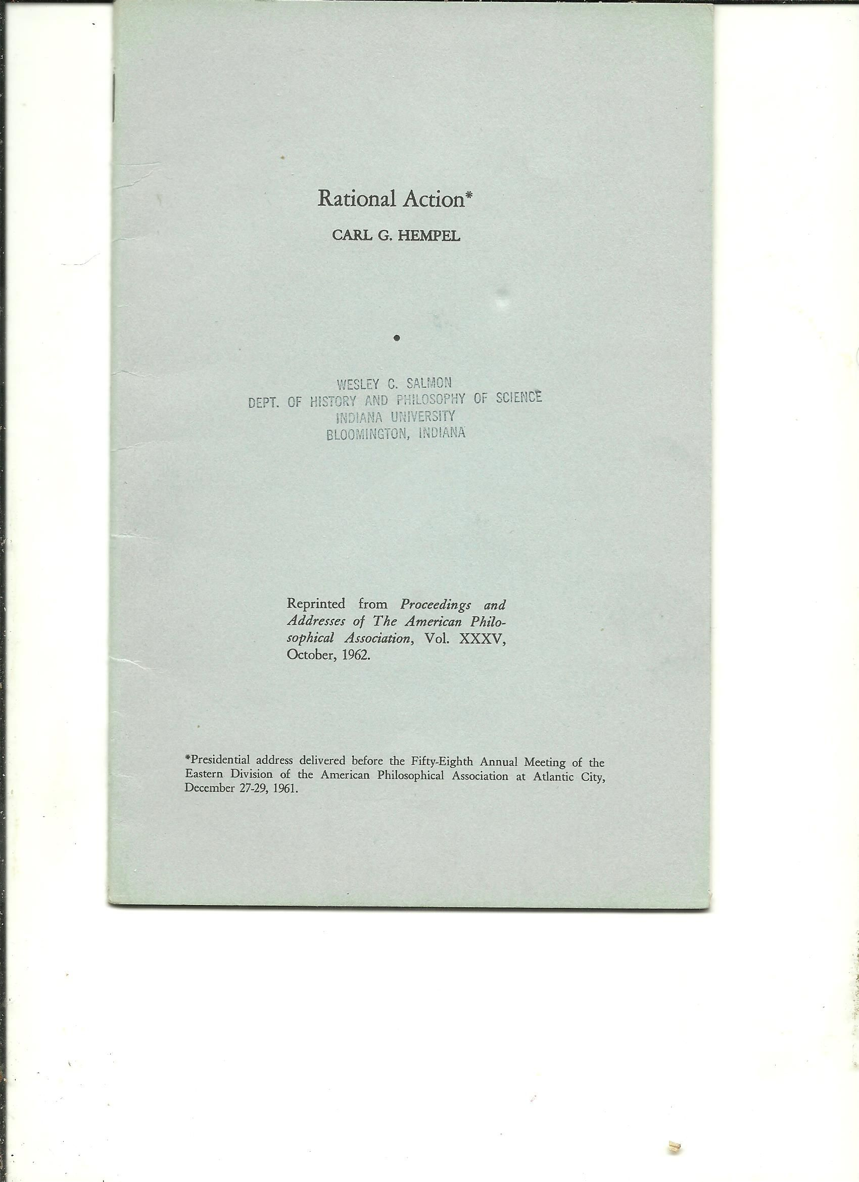 hempel aspects of scientific explanation and other essays in the philosophy of science