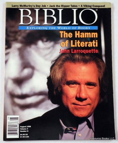 Biblio Magazine - August 1998.  Volume 3, Number 8, Biblio Magazine