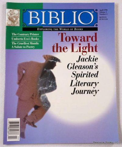 Biblio Magazine - April 1998.  Volume 3, Number 4, Biblio Magazine