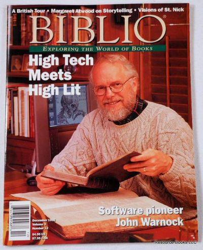 Biblio Magazine - December 1998.  Volume 3, Number 12, Biblio Magazine