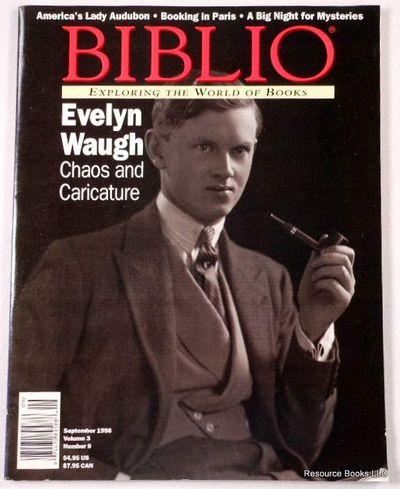 Biblio Magazine - September 1998.  Volume 3, Number 9, Biblio Magazine