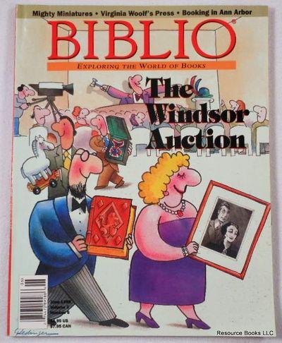 Biblio Magazine - June 1998.  Volume 3, Number 6, Biblio Magazine