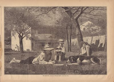 Image for The Nooning- Drawn by Winslow Homer Harper's Weekly- August 16, 1873