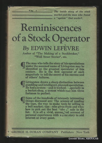 reminiscences of a stock operator edwin lefevre pdf