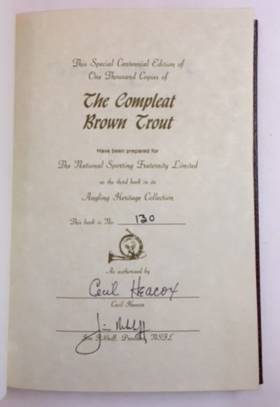 The Compleat Brown Trout, Heacox, Cecil E.