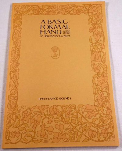 A Basic Formal Hand, Goines, David Lance