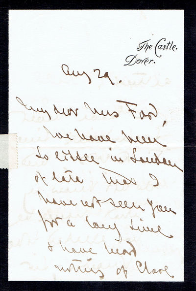 AUTOGRAPH LETTER SIGNED BY LT. GEN. SIR WILLIAM HOWLEY GOODENOUGH., Goodenough, Lieutenant-General Sir William Howley.(1833-1898). British soldier who served in the Indian Mutiny. He was commander of British troops in South Africa at the time of his death.
