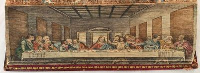 THE NEW WEEK'S PREPARATION for a Worthy Receiving of the Lord's Supper. As recommended and appointed by the Church of England... To which are added a morning and evening prayer for the Closet of Family. [with: ... Part the second]., [DOUBLE Fore-edge Painting] [Haywood, Helen].