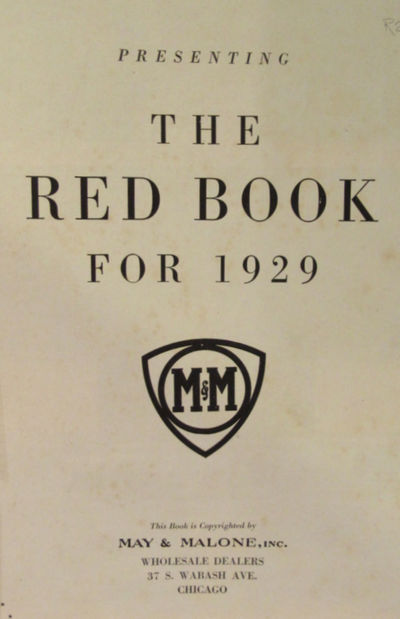 Image for May & Malone Presenting The Red Book For 1929