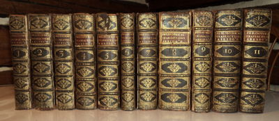 1705-1756 SCIENCE - ILLUSTRATED with 272 PLATES & MAPS: PHILOSOPHICAL TRANSACTIONS AND COLLECTIONS, [FROM THE YEAR 1665, TO THE YEAR 1750] ABRIDGED AND DISPOS'D UNDER GENERAL HEADS. (A complete set of first editions contemporaneously bound in 11 volumes).