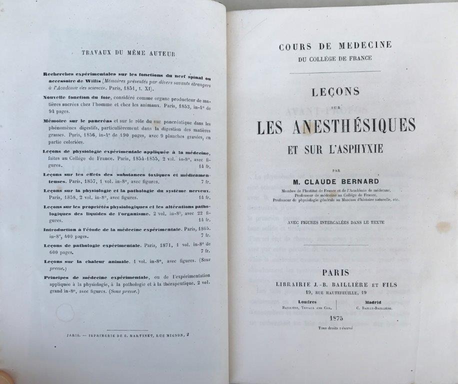 Image for Lecons sur les anesthesiques et sur l'asphyxie.